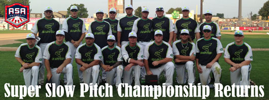 ASA/USA Men's Super Slow Pitch Championship returns in 2014 with